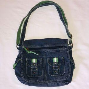 Vintage Mini Denim Messenger Bag